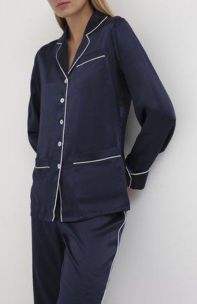 Женская шелковая пижама OLIVIA VON HALLE синего цвета, арт. CT0016 | Фото 2