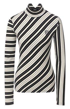 Женская хлопковая водолазка LOEWE черно-белого цвета, арт. S359341X93 | Фото 1