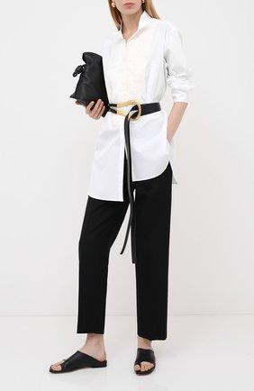 Женская хлопковая рубашка LOEWE белого цвета, арт. S359337XBR | Фото 2