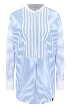 Женская хлопковая рубашка LOEWE голубого цвета, арт. S359332X15 | Фото 1