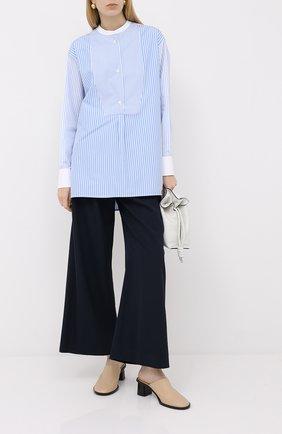 Женская хлопковая рубашка LOEWE голубого цвета, арт. S359332X15 | Фото 2