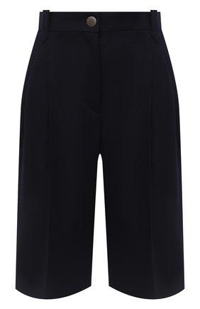 Женские шерстяные шорты LOEWE темно-синего цвета, арт. S359331XBB | Фото 1