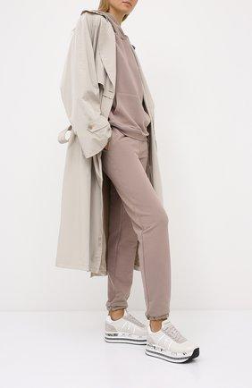 Женские кожаные кроссовки beth PREMIATA кремвого цвета, арт. BETH/VAR4841 | Фото 2