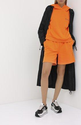 Женские кожаные кроссовки beth PREMIATA черно-белого цвета, арт. BETH/VAR4842 | Фото 2