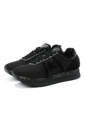 Женские комбинированные кроссовки conny PREMIATA черного цвета, арт. C0NNY/VAR4825 | Фото 1
