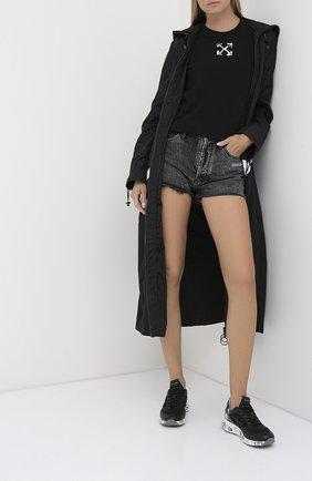 Женские комбинированные кроссовки zac PREMIATA черного цвета, арт. ZAC-ZACD/VAR4882 | Фото 2