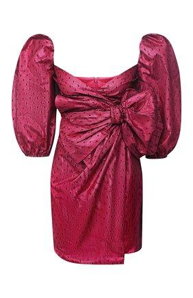 Женское платье REDVALENTINO фуксия цвета, арт. UR3VAR85/573   Фото 1 (Материал внешний: Синтетический материал; Длина Ж (юбки, платья, шорты): Мини; Рукава: 3/4; Женское Кросс-КТ: Платье-одежда; Случай: Коктейльный)
