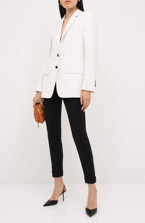 Женские шерстяные брюки TOM FORD черного цвета, арт. PAW346-FAX236 | Фото 2