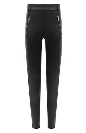 Женские кожаные леггинсы ALEXANDER MCQUEEN черного цвета, арт. 633546/Q5AEB | Фото 1