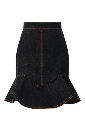 Женская джинсовая юбка ALEXANDER MCQUEEN черного цвета, арт. 630911/QMAA2 | Фото 1