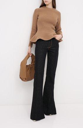 Женские джинсы ALEXANDER MCQUEEN черного цвета, арт. 628062/QMAA3 | Фото 2