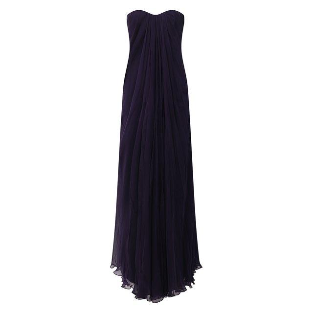 Шелковое платье Alexander McQueen