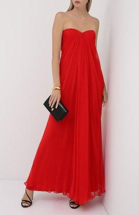 Женское шелковое платье ALEXANDER MCQUEEN красного цвета, арт. 612662/QBAAB | Фото 2