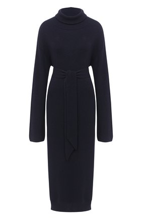 Женское платье-миди NANUSHKA темно-синего цвета, арт. CANAAN_NAVY_RECYCLED CASHMERE KNIT   Фото 1