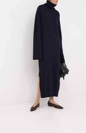 Женское платье-миди NANUSHKA темно-синего цвета, арт. CANAAN_NAVY_RECYCLED CASHMERE KNIT   Фото 2