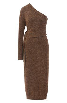 Женское платье-миди NANUSHKA коричневого цвета, арт. CEDR0_BR0WN_FLUFFY KNIT   Фото 1