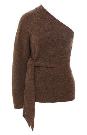 Женская свитер NANUSHKA коричневого цвета, арт. CLET0_BR0WN_FLUFFY KNIT | Фото 1