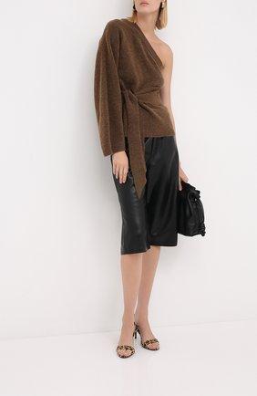 Женская свитер NANUSHKA коричневого цвета, арт. CLET0_BR0WN_FLUFFY KNIT   Фото 2
