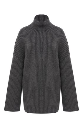 Женская шерстяной свитер NANUSHKA серого цвета, арт. RAW_CHARC0AL_S0FT W00L BLEND KNIT   Фото 1