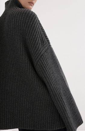 Женский шерстяной свитер NANUSHKA серого цвета, арт. RAW_CHARC0AL_S0FT W00L BLEND KNIT   Фото 4