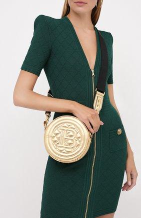 Женская сумка disco BALMAIN золотого цвета, арт. UN1S539/LNLM | Фото 2