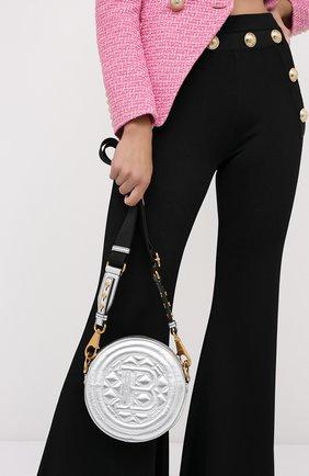 Женская сумка disco BALMAIN серебряного цвета, арт. UN1S539/LNLM | Фото 2