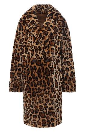 Женская дубленка METEO YVES SALOMON леопардового цвета, арт. 21WMM60399MERS | Фото 1