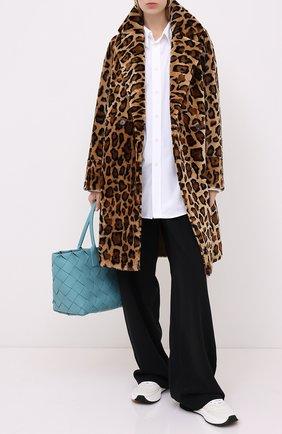 Женская дубленка METEO YVES SALOMON леопардового цвета, арт. 21WMM60399MERS | Фото 2