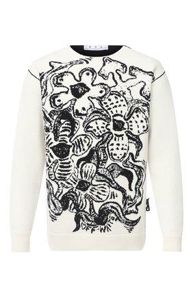 Мужской шерстяной свитер OFF-WHITE черно-белого цвета, арт. 0MHE049E20KNI0010310   Фото 1