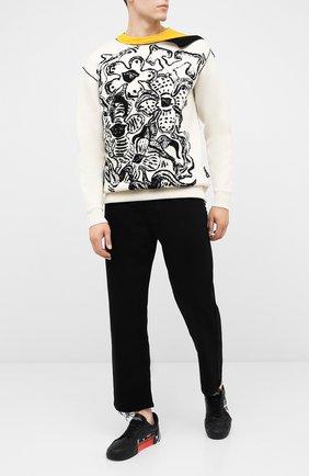 Мужской шерстяной свитер OFF-WHITE черно-белого цвета, арт. 0MHE049E20KNI0010310   Фото 2
