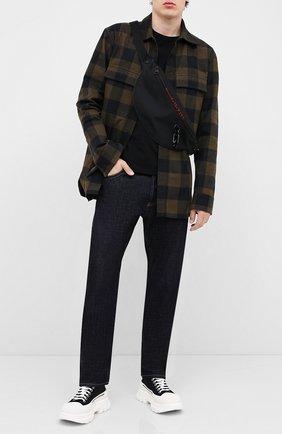 Мужская текстильная поясная сумка ALEXANDER MCQUEEN черного цвета, арт. 605053/HV2BK | Фото 2