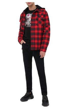 Мужские джинсы PALM ANGELS черного цвета, арт. PMYA012E20DEN0021001 | Фото 2