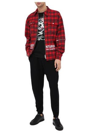 Мужские кожаные кеды DSQUARED2 черно-белого цвета, арт. SNM0005 01503204 | Фото 2