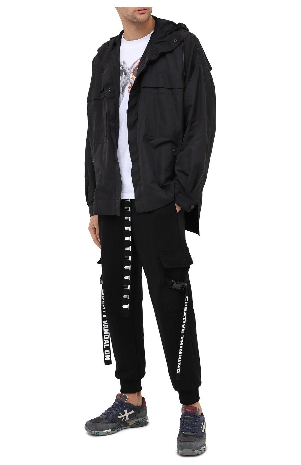 Мужские комбинированные кроссовки zac-zac PREMIATA серого цвета, арт. ZAC-ZAC/VAR4070 | Фото 2