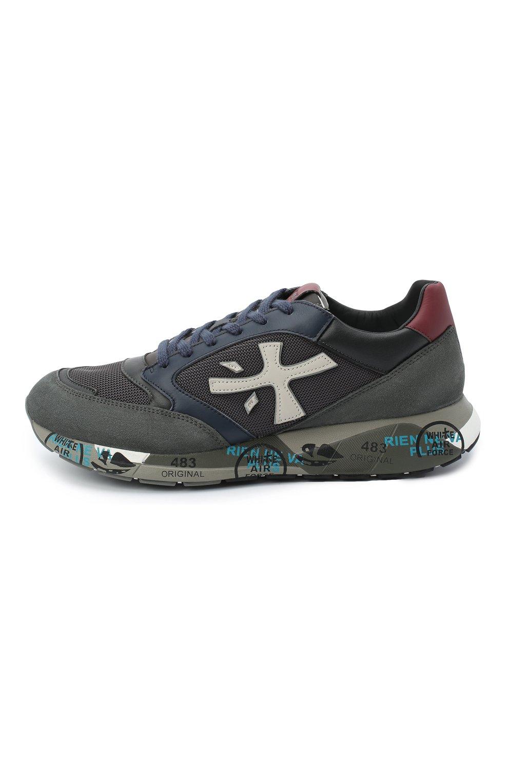 Мужские комбинированные кроссовки zac-zac PREMIATA серого цвета, арт. ZAC-ZAC/VAR4070 | Фото 3