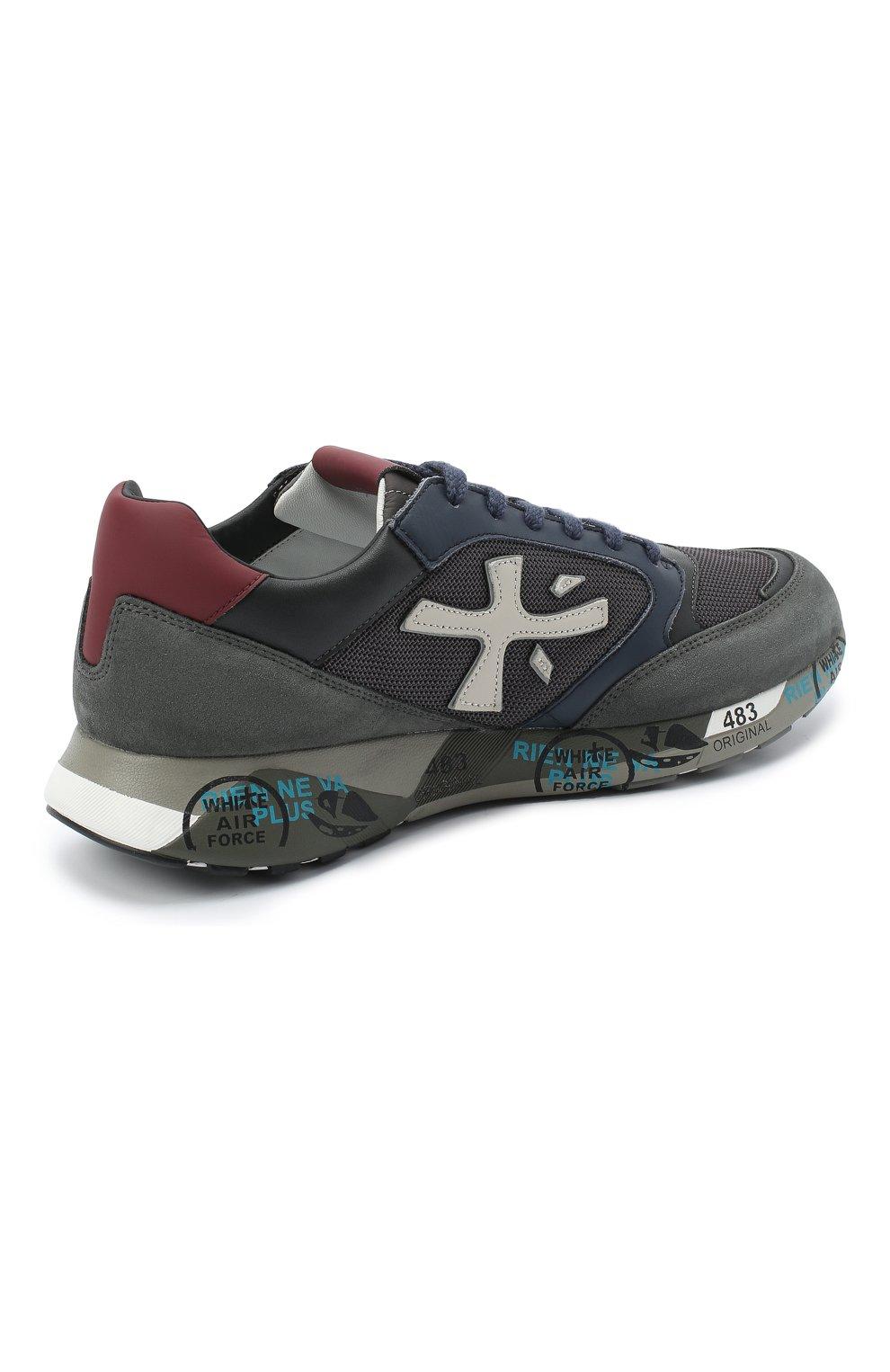 Мужские комбинированные кроссовки zac-zac PREMIATA серого цвета, арт. ZAC-ZAC/VAR4070 | Фото 4