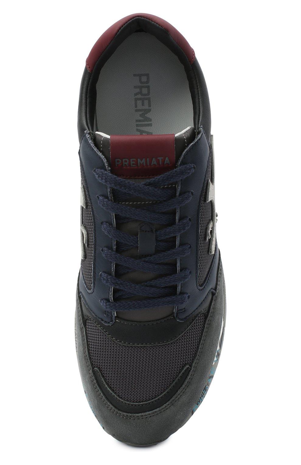 Мужские комбинированные кроссовки zac-zac PREMIATA серого цвета, арт. ZAC-ZAC/VAR4070 | Фото 5
