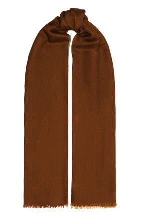 Мужской шарф из кашемира и шелка LORO PIANA коричневого цвета, арт. FAF6131 | Фото 1