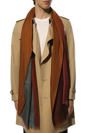 Мужской шарф из кашемира и шелка LORO PIANA коричневого цвета, арт. FAF6131 | Фото 2
