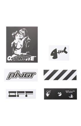 Мужская набор наклеек OFF-WHITE черно-белого цвета, арт. 0MZG034E20MAT0031001 | Фото 1
