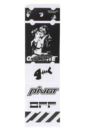 Мужская набор наклеек OFF-WHITE черно-белого цвета, арт. 0MZG034E20MAT0031001 | Фото 2