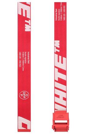 Мужской текстильный ремень OFF-WHITE красного цвета, арт. 0MRB034E20FAB0012501 | Фото 2