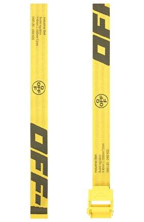 Мужской текстильный ремень OFF-WHITE желтого цвета, арт. 0MRB034E20FAB0011810 | Фото 2