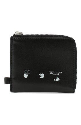 Мужской кожаный кошелек для монет OFF-WHITE черного цвета, арт. 0MNC013E20LEA0021001 | Фото 1