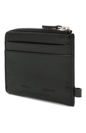 Мужской кожаный кошелек для монет OFF-WHITE черного цвета, арт. 0MNC013E20LEA0021001 | Фото 2