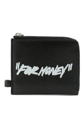 Мужской кожаный кошелек для монет OFF-WHITE черно-белого цвета, арт. 0MNC013E20LEA0011001 | Фото 1