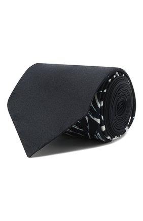 Мужской шелковый галстук OFF-WHITE темно-синего цвета, арт. 0MMD006E20FAB0014501 | Фото 1