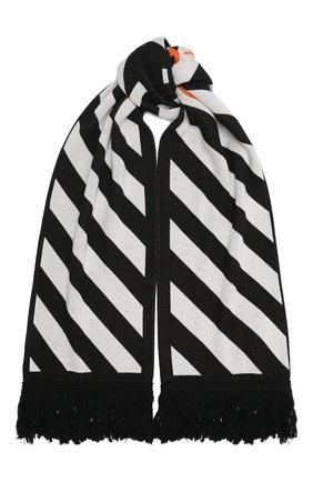 Мужской шарф OFF-WHITE черно-белого цвета, арт. 0MMA001E20KNI0011001 | Фото 1