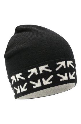 Мужская шерстяная шапка OFF-WHITE черно-белого цвета, арт. 0MLC012E20KNI0011001 | Фото 1