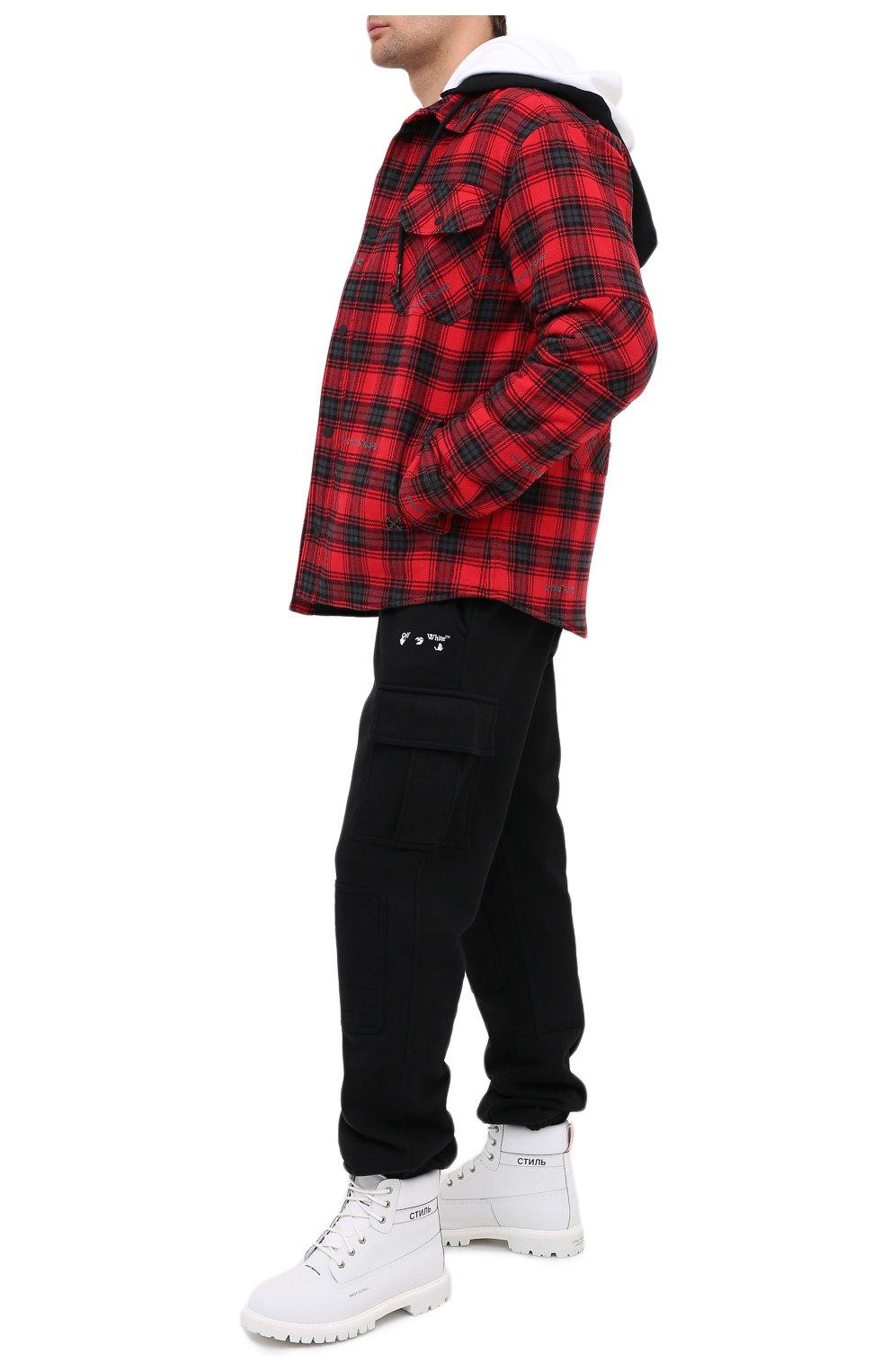 Мужская куртка OFF-WHITE красного цвета, арт. 0MEA236E20FAB0012500   Фото 2